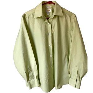 Talbots women's button down collar long sleeve 10